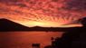 Red sky at West - Dalmatia Trogir cloudy red sky